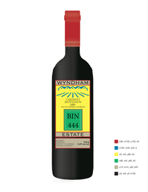 Wine label two cv