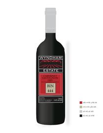 Wine label three cv