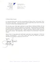 Tonya lanier s letter of recommendation cv