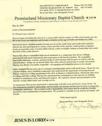 Pastor s letter of recommendation cv