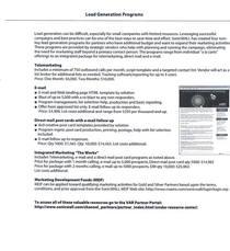 Leadgenprograms cv