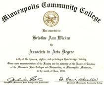 Mctc degree cv
