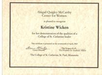 Abigail quigley mccarthy award cv