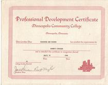 Women s study certificate cv