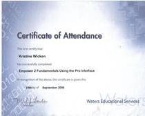 Empower 2 certificate cv