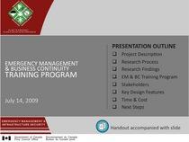 Presentation   em bc training program   09 07 14   ccg   english   public cv