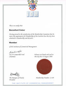 Icm certification cv