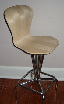 Laminated birch veneer bar stool cv