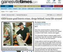 Ged honor grad leaves crime drugs behind turns life around cv