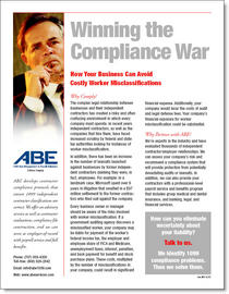 Nelson abe sell sheet compliance war cv