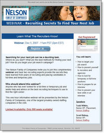Webinar nss recruiting secrets cv
