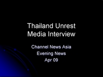 Thailand media interview cv