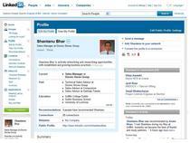 Linkedin profile cv