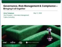 Governance risk compliance presentation cover cv