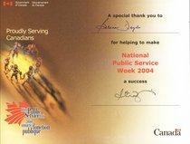 Public service week cv