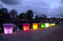 Led flower pots cv