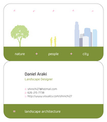 Personal business card cv