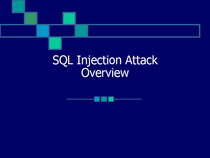 Portfolio presentation sql injection cv