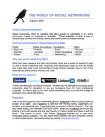 Socialnetworkinghandout cv