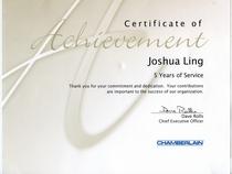 5 year certificate cv