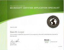 Certificate cv