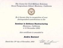 Defence restruturing cv