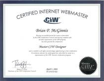Master ciw designer certification cv