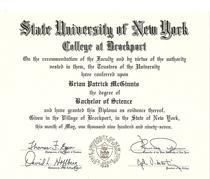 Suny brockport degree cv