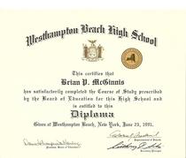 Westhampton beach high school diploma cv