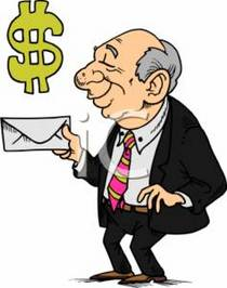 0511 0701 3116 0628 businessman with a envelope   money symbol clipart image cv