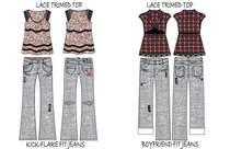 Printed tops jeans.ai cv