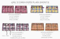 Girls yarn dyed plaid shorts.ai cv