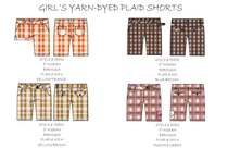 Girls yarn dyed bermuda shorts.ai cv