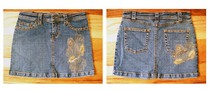 Denim mini skirt cv