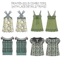 Printed tops with lace group 3 .ai cv