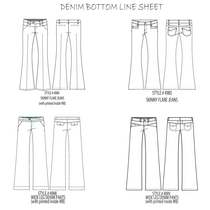 Denim bottoms line sheet for sp09.ai cv
