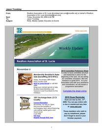 Weekly update page 1 cv