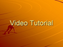 Video tutorial cv