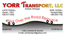 Yorr transport proof cv
