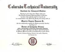 Doctoral diploma cv