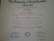 Unc diploma cv