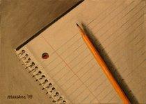 Pencil notebook cv