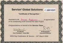 Idea project certificate cv