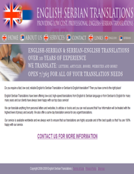 English serbian translation cv