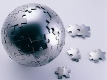 Steel puzzle sphere cv