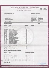 Transcript 1 cv