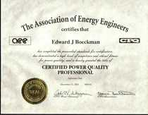 Power quality professional certificate cv