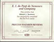 Process hazards reviews cv