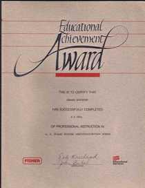 Fisher uoc certificate cv
