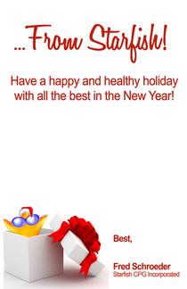 Starfish holiday card inside cv